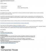 Companies House reply